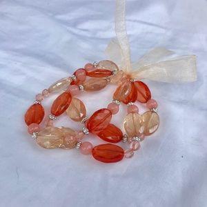 3 Orange/Peach Stretch Bracelet